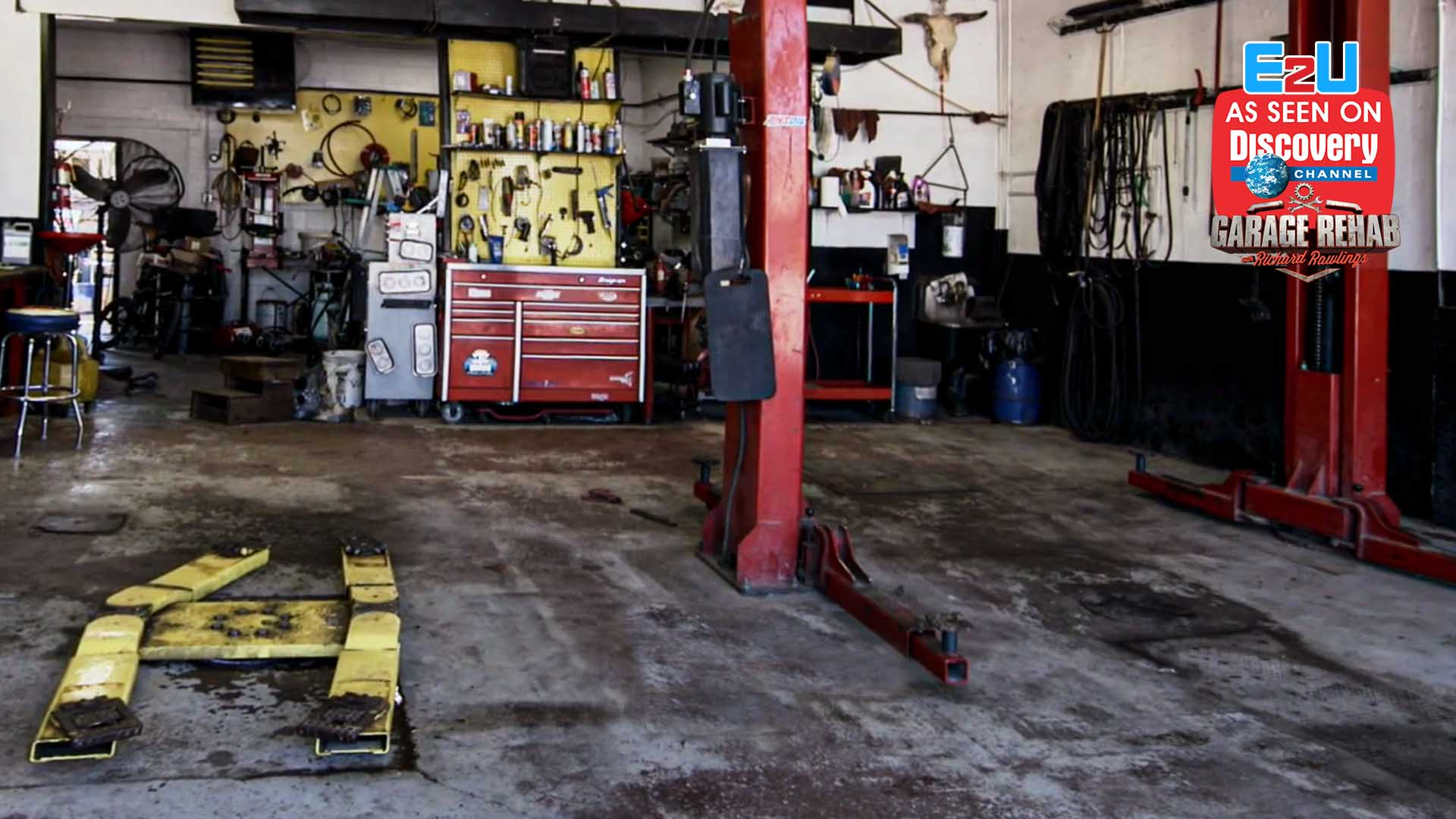 Garage Rehab Before pic w logos